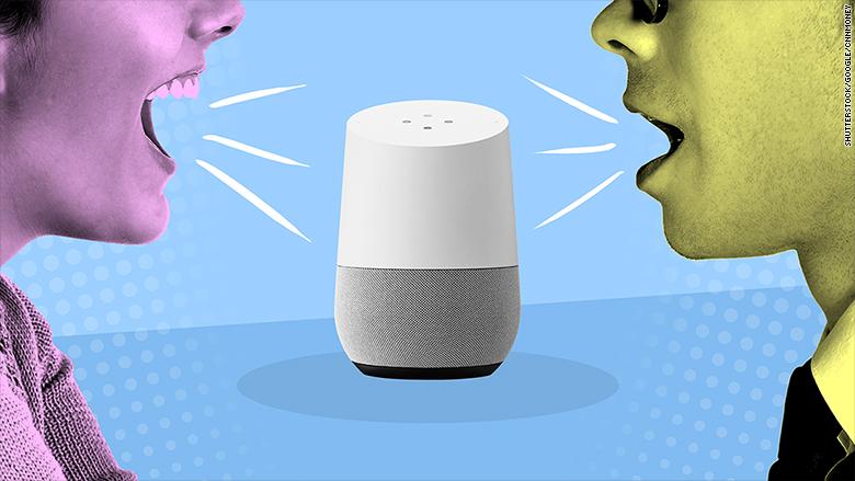 google home voices