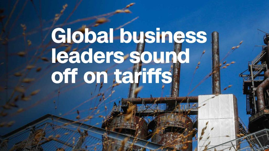 Global business leaders sound off on tariffs