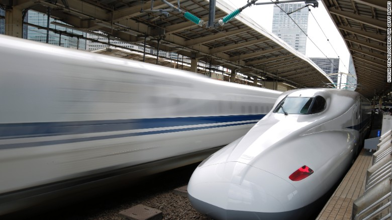 Central Japan Railway Co. (JR Central) N700 array Shinkansen bullet train