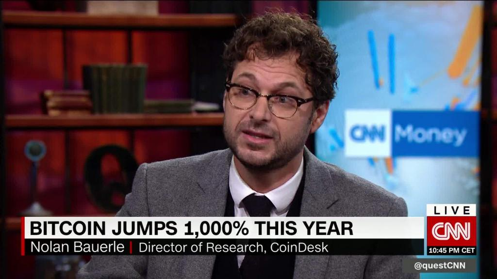 Bitcoin jumps 1000% this year
