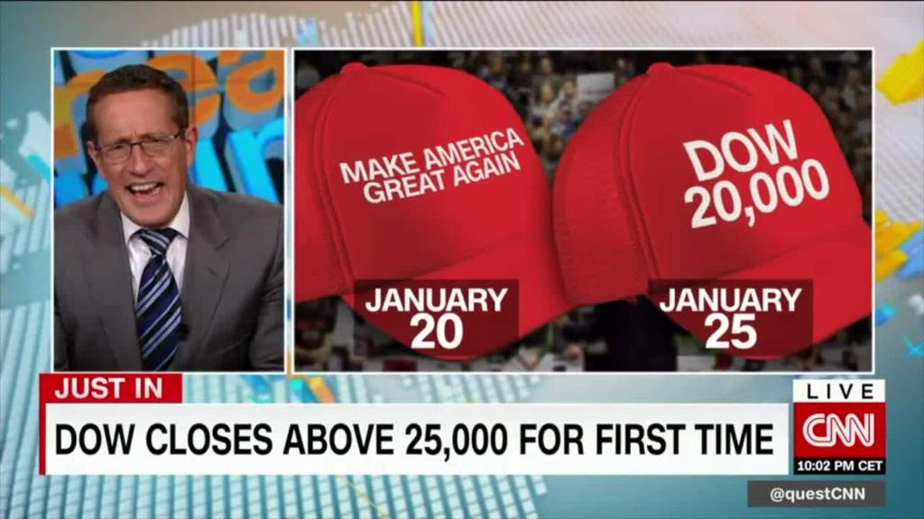 Dow hits 25k and sets TWO annals