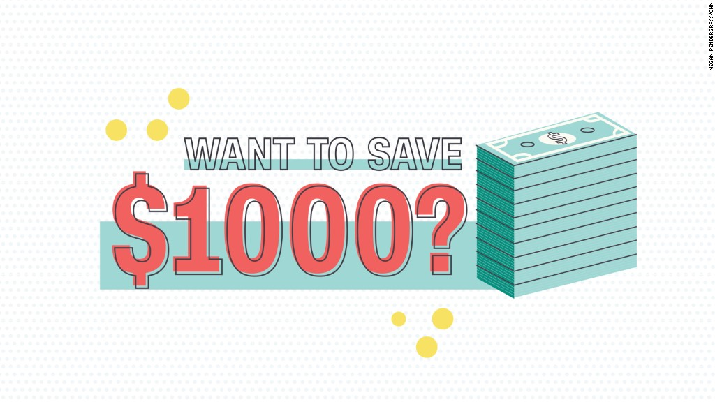 How to save $1,000 this year