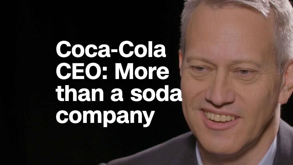 Coca-Cola CEO: 'We try to be some-more than a soda company'