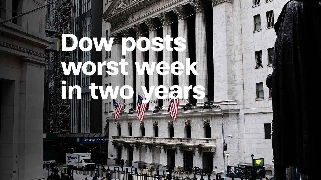 Dow posts misfortune week in dual years
